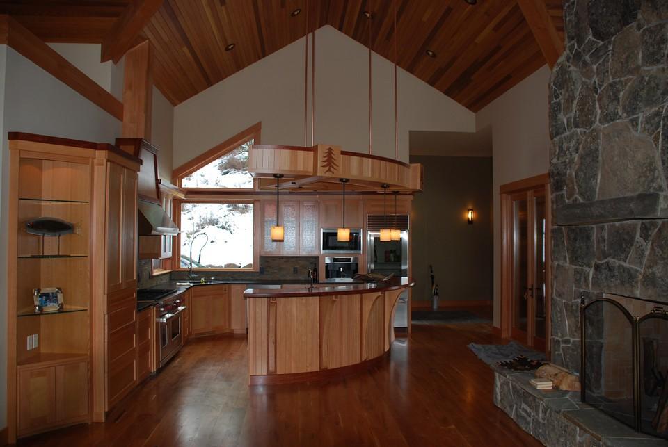 Wind river builders husum custom kitchen for Wind river custom homes
